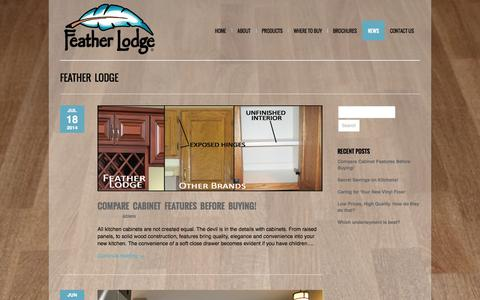 Screenshot of Press Page featherlodge.com - Feather Lodge | News - captured Oct. 6, 2014