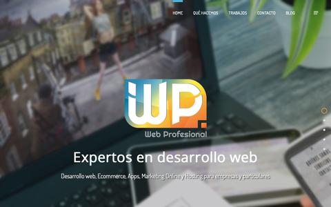 Screenshot of Home Page web-profesional.net - Web Profesional - Expertos en Desarrollo web - captured Oct. 21, 2018