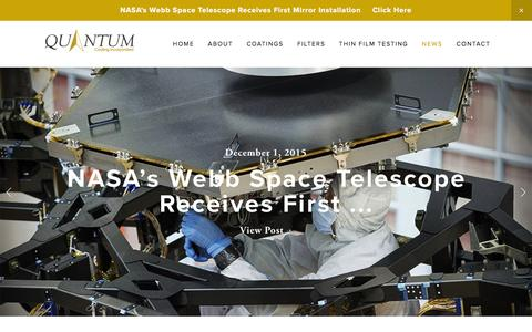 Screenshot of Press Page quantumcoating.com - News — Quantum Coating, Inc. - captured Feb. 1, 2016