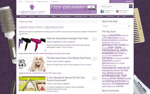Screenshot of Press Page i-glamour.com - News - i-glamour blog - captured Sept. 22, 2014