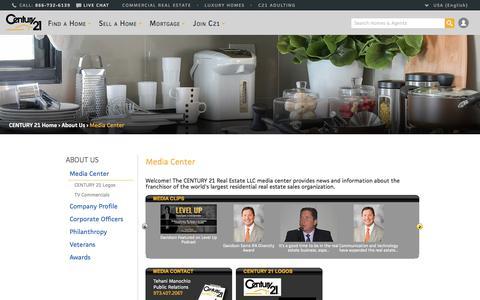 Screenshot of Press Page century21.com - CENTURY 21 Media Center | CENTURY 21 - captured Oct. 16, 2017