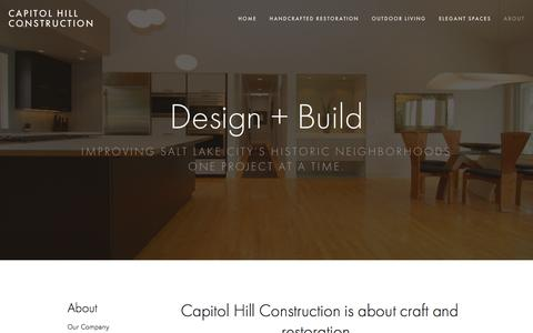 Screenshot of About Page caphillcon.com - Our Company — Capitol Hill Construction - captured Jan. 25, 2016