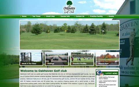 Screenshot of Home Page oakhaven.com - Welcome to Oakhaven Golf club - captured Oct. 7, 2014