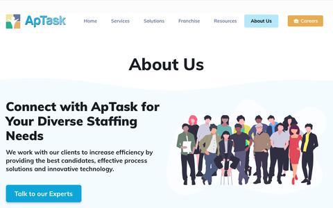 Screenshot of About Page aptask.com - About Us – ApTask - captured Nov. 7, 2019