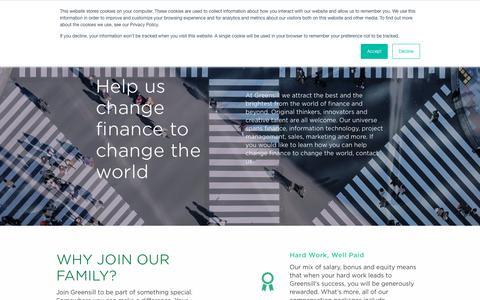 Screenshot of Jobs Page greensill.com - Careers - Greensill - captured Sept. 18, 2019