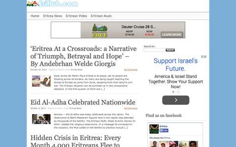 Screenshot of Press Page erihub.com - EriHub - Eritrean News - captured Oct. 30, 2014