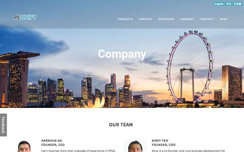 Screenshot of Team Page plunify.com - Team — Plunify - captured July 13, 2018