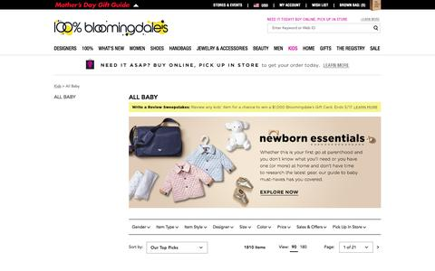 Designer Baby Clothes, Toys, Gears and More - Bloomingdale's