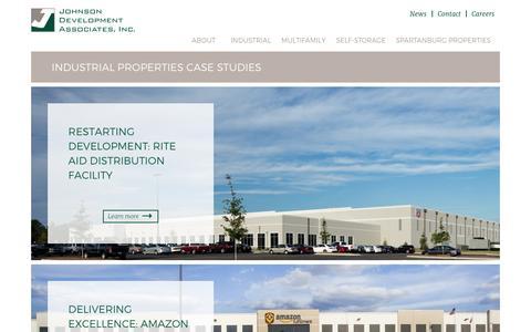 Screenshot of Case Studies Page johnsondevelopment.net - Industrial Case Studies | Johnson Development - captured Nov. 27, 2016