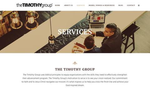 Screenshot of Services Page timothygroup.com - The Timothy Group |   Services - captured Nov. 17, 2017