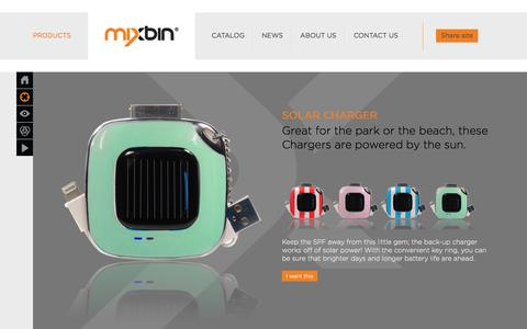 Screenshot of Products Page getmixbin.com - all Archives - MIXBIN Archive - - captured Oct. 1, 2014