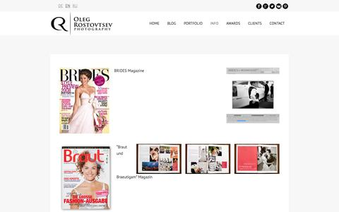 Screenshot of Press Page rostovtsev.de - Publications - Interview - Wedding magazines - captured Dec. 1, 2016