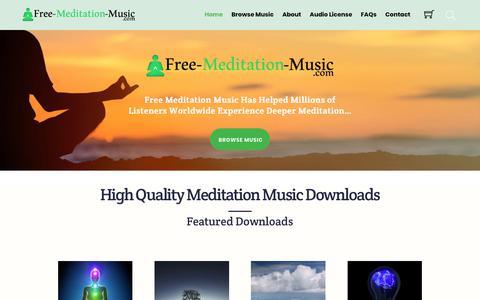 Screenshot of Home Page free-meditation-music.com - Home - Free Meditation Music - captured Oct. 19, 2018
