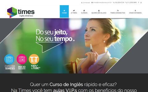 Screenshot of Home Page timesidiomas.com.br - Escola de inglês para a vida real, do seu jeito, no seu tempo. - captured July 30, 2017
