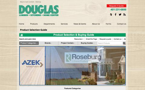 Screenshot of Products Page douglaslumber.com - Product Selection Guide - captured Dec. 26, 2017