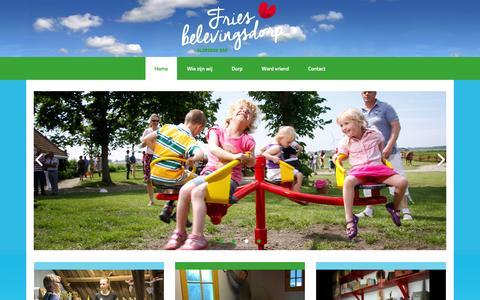 Screenshot of Home Page aldfaerserf.nl - Aldfaers Erf – Fries Belevingsdorp - captured Feb. 10, 2016