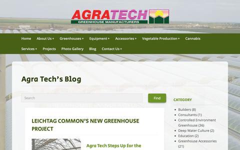 Screenshot of Blog agratech.com - Commercial Greenhouse Manufacturer | Metal Structure | Vegetable - captured Oct. 23, 2018