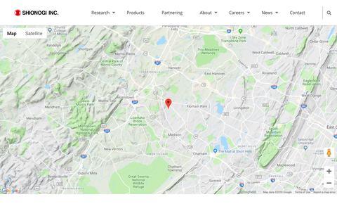 Screenshot of Contact Page shionogi.com - Contact - Shionogi Inc. A Discovery-Based Pharmaceutical Company - captured Oct. 18, 2018
