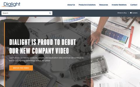 Screenshot of Home Page dialight.com - World Leading Industrial LED Lighting Solutions   Dialight - captured Aug. 17, 2019