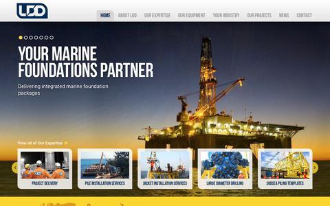 Screenshot of Home Page lddrill.com - LDD   Your Marine Foundations Partner - captured July 8, 2017