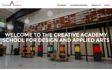 Screenshot of Home Page creative-academy.com - Creative Academy · The Richemont's Design School - captured July 17, 2016