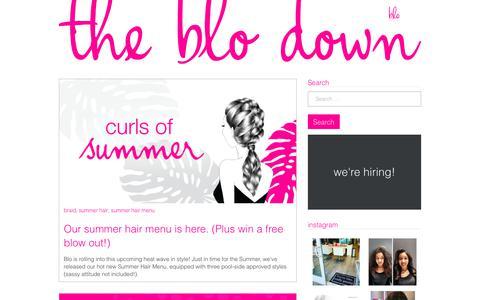 Screenshot of blomedry.com - the blo down – blo blow dry bar - captured June 12, 2017