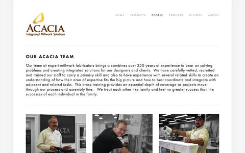 Screenshot of Team Page acaciaoriginals.com - People — Acacia - captured Feb. 13, 2019