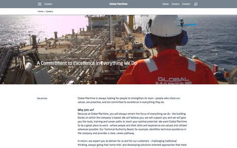 Screenshot of Jobs Page globalmaritime.com - Careers - captured July 11, 2017