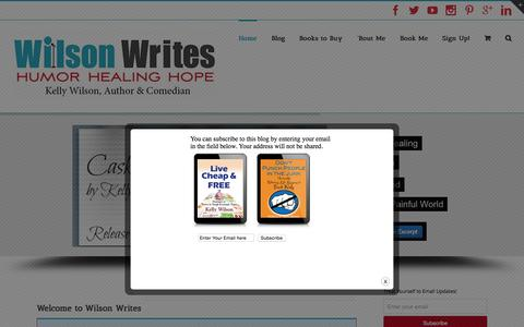 Screenshot of Home Page wilsonwrites.com - Wilson Writes - captured Oct. 2, 2015