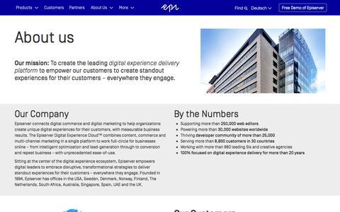 Screenshot of About Page episerver.de - About Us - Episerver - captured March 2, 2016