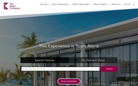 Screenshot of Home Page keyes.com - The Keyes Company - The Keyes Company - captured Nov. 15, 2018