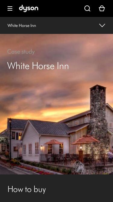 Screenshot of Case Studies Page  dyson.com - White Horse Inn | Case Study | Dyson