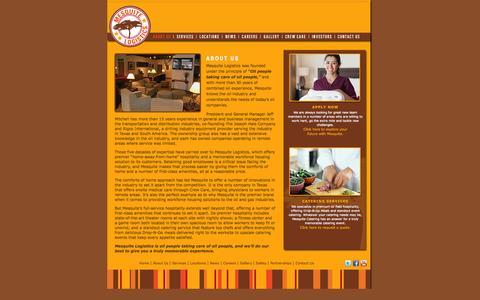 Screenshot of About Page mesquitelogistics.com - About Us   Mesquite Logistics - captured Oct. 27, 2014