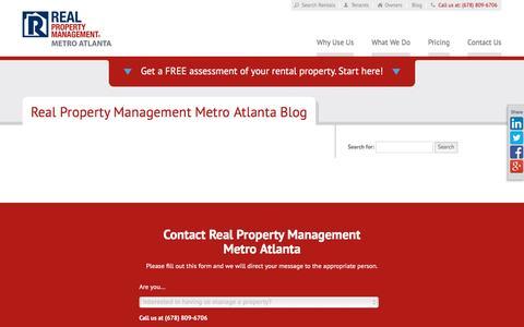 Screenshot of Blog rpmmetroatl.com - Atlanta GA Property Management Blog   Real Property Management Metro Atlanta - captured March 9, 2016