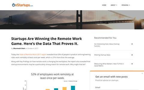 Screenshot of Team Page onstartups.com - Advice and Insights for Entrepreneurs   OnStartups   team - captured Sept. 22, 2018