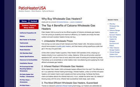Screenshot of Blog patioheaterusa.com - PatioHeaterUSA - Outdoor Heaters - Patio Heaters - Infrared Heaters - captured July 9, 2018