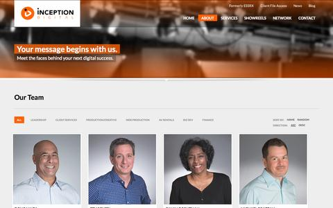 Screenshot of Team Page inceptiondigital.com - Inception Digital - Team - captured Oct. 28, 2014