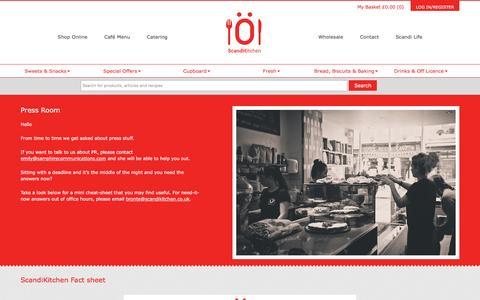 Screenshot of Press Page scandikitchen.co.uk - Press Room - ScandiKitchen - captured Jan. 18, 2016