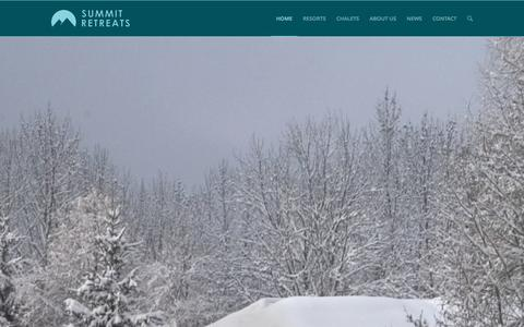 Screenshot of Home Page summitretreats.com - Luxury Ski Chalets & Catered Ski Chalets | Summit Retreats - captured Jan. 12, 2016