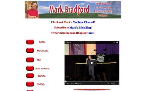 Screenshot of Home Page mark-bradford.com - Mark Bradford Music Ministries, original and parody artist - captured Oct. 6, 2014