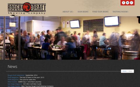 Screenshot of Press Page roughdraftbrew.com - Rough Draft Brewing Company   Press   San Diego, CA - captured Nov. 4, 2014
