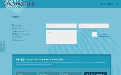 Screenshot of Contact Page shamahuis.nl - Contact - Shamahuis - captured June 18, 2017
