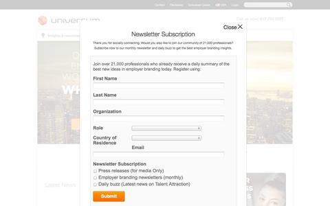 Screenshot of Signup Page universumglobal.com - Employer Branding - Universum - captured Sept. 19, 2014