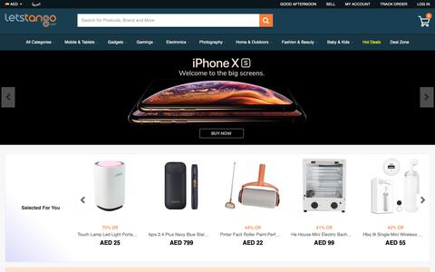 Screenshot of Home Page letstango.com - Online Shopping Dubai UAE, Best Online Shopping Websites - captured Sept. 28, 2018