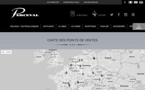 Screenshot of Maps & Directions Page couteau.com - Couteau, couteaux de poche, de cuisine et de table - Perceval - captured Oct. 9, 2017