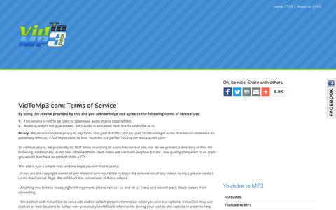 Terms of Service - VidToMp3.com