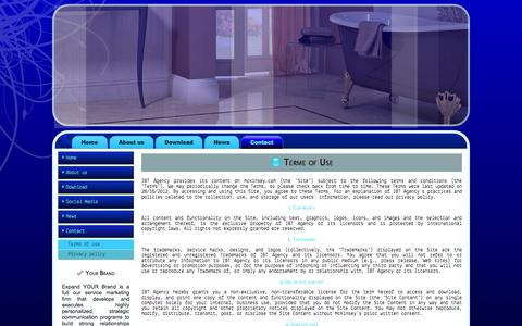 Screenshot of Terms Page ibtagency.com - Terme of Use - captured Oct. 3, 2014