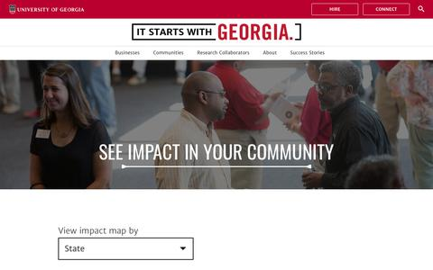 Screenshot of Maps & Directions Page uga.edu - Map - It Starts With Georgia - captured Dec. 11, 2018