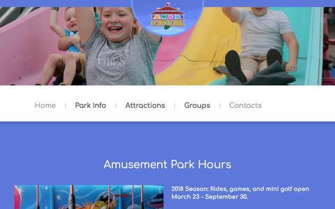 Screenshot of Hours Page oakspark.com - Hours - captured Sept. 23, 2018
