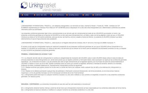 Screenshot of Privacy Page linkingmarket.com - Linking Market | Uniendo Mercado - captured Oct. 2, 2014